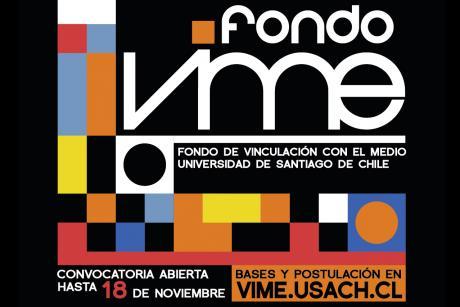 Imagen muestra letras y logo del Fondo VIME